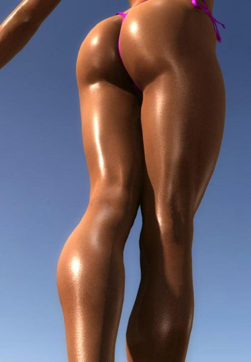 best female fitness ass nude